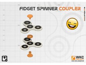 Fidget spinner coupler