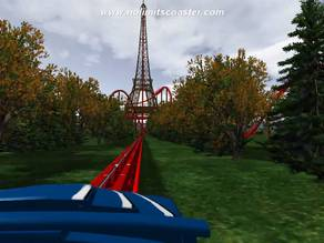Eiffel Tower Extreme Roller Coaster