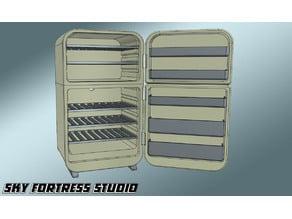 Miniature retro fridge v2
