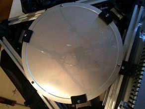 200mm Borosilicate glass holder for Folgertech Kossel (or any 220mm heating bed)