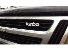 SAAB 900 Front Grille Turbo Emblem