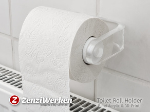 Toilet Roll Holder 'Clear & Clean'