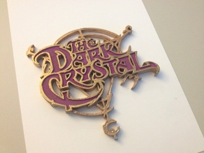 The Dark Crystal Logo Coaster