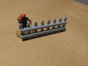 Parametric wood fence for wargames