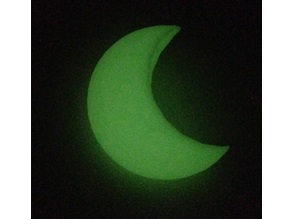 Glow in the Dark Crescent Moon