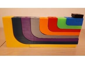 Menorah rectangular - print in parts