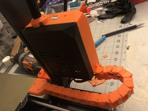 Prusa MK3S Einsy Case with piDoor and y-axis cable chain