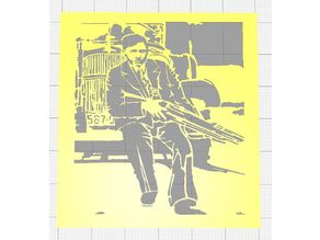 BONNIE AND CLYDE STENCILS ADAPTED FROM REAL PHOTOS CIRCA 1933 SET OF SIX