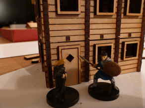 Large lasercut log cabin for 28 mm tabletop gaming