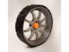 B-Robot 9-Spoke Wheel With Low Profile Tire