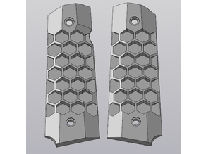 Grips HONEYCOMB for WE/KJW GBB pistol 1911