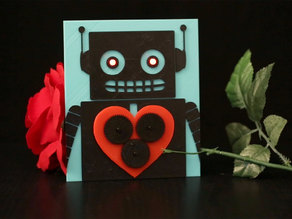 3D Printed Valentine with Bare Conductive Electric Paint