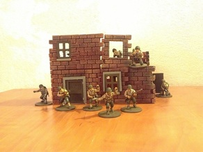 Wall system for scale  28 mm : ruins