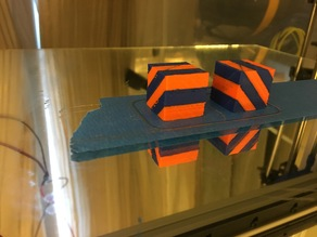 20mm Calibration Cube for Dual Extrusion