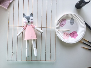 Elastic Strung Cute Animal Doll