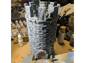 Fantasy Wargame Terrain - Modular Stone Tower