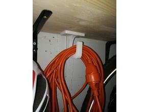 cable hook for extension cords 240Volts - Kabelhaken Verlängerungskabel 240V