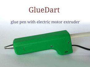 GlueDart. Glue pen with motor extruder case.