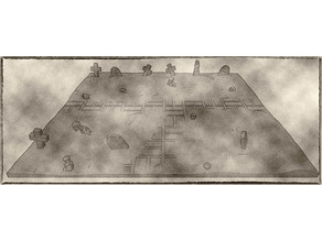 Cemetary Miniatures Trays 25mm 32mm 40mm- Graveyard Themed Set for Dungeons and Dragons, Warhammer of Tabletop fantasy games.