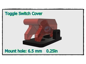 ToggleSwitch Flip safety cover mount hole 0.23in