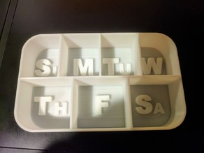 Weekly Pill Holder Altoids Can Thin Wall Divider Inserts