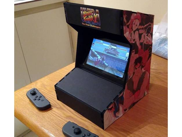nintendo switch arcade cabinet by ssilver2k2