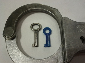 LIPS handcuff key