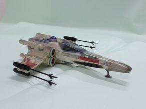 X Wing Fighter  Cannon 1995 Tonka Star Wars Ship