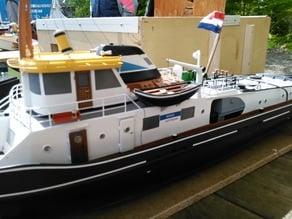 "Model of a Dutch rowing boat "" Vlet """