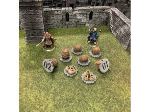 Numeric Fantasy Objective Markers (28mm/32mm scale)
