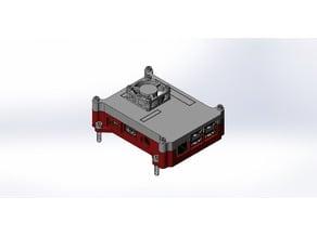 Raspberry PI 3 Case with Fan and Vesa Mounts