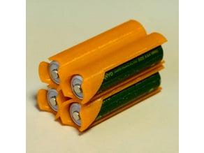 2x2 AAA Battery Holder