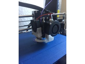 Simple Detachable Anet A8 Extruder Fan Holder