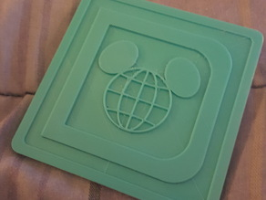 Vintage Walt Disney World Logo Coasters and Holder