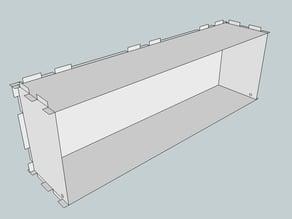 Eurorack Lasercut Case 84HP 3U 93mm