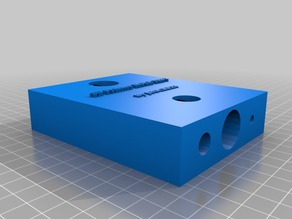 3D Printer HOLE TEST-USE NO SUPPORTS