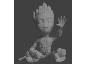 Waving Groot 15.5cm hand fixed