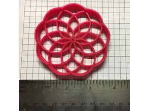 Mandala cookie cutter version 2