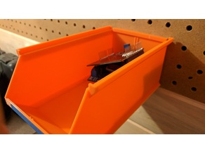 Stackable Storage Box Pegboard Mount
