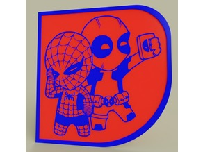 Marvel - Chibi Spiderman Deadpool