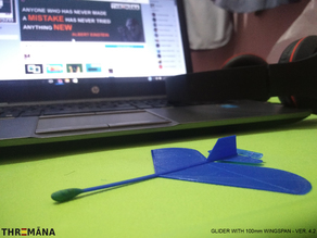 Blue Bird - Glider with 100mm wingspan