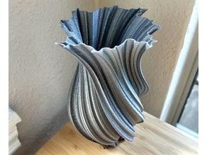 Mandelbrot Fractal Twist Vase No.2