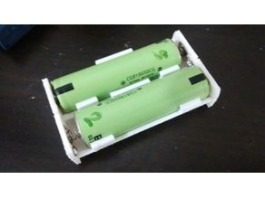 Dual Li-ion battery holder