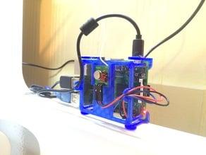 Raspberry Pi Mount / Case Minimal with RF transmitter holster