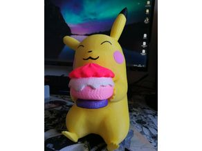 Pikachu with cake