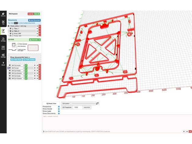 iTopie 3D Printer frame - LaserWeb4 Workspace by cojarbi