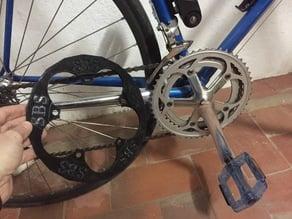 Protector Plato bicicleta carretera 50-39T (110mm) // 50-39T road bike plate protector (110mm)