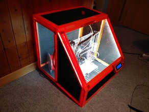 Case / enclosure with LED lighting for Prusa i3 type printers