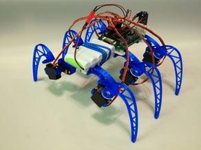 3D printable modular Hexapod robot frame