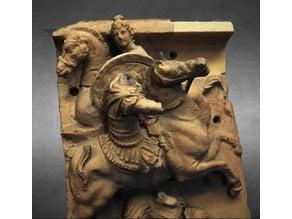 Relief in terracotta